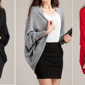 Long Sleeve Batwing Autumn Cardigan..