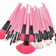 24PCS High Quality Professional Brush Set HOT PINK